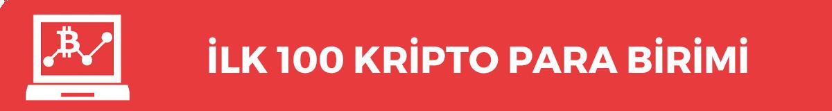 İlk 100 Kripto Para Birimi