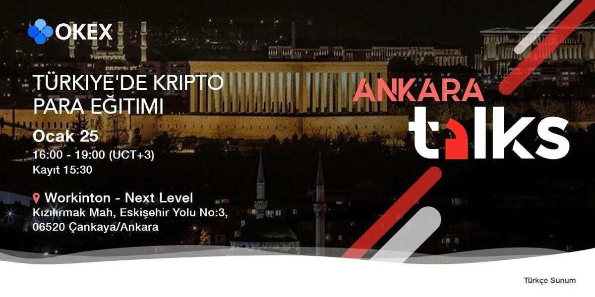 OKEx 25 Ocak'ta Ankara'da Etkinlik Yapacağını Duyurdu