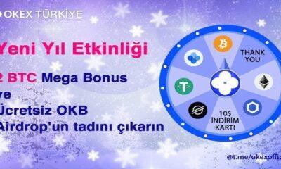OKEx Türkiye Yeni Yıl Etkinliği İle 2 BTC Veriyor! Büyük Ödül 1 BTC!