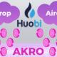 Huobi'den AKRO Airdrop'u! 1 Milyondan Fazla AKRO Dağıtılacak!