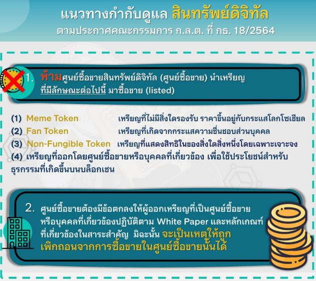 Screenshot 1 - Tayland SEC, Borsaların NFT ve Taraftar Tokenlarını Listelemesini Yasaklıyor!