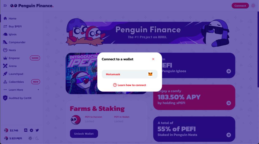 Ekran Resmi 2021 08 28 14.08.42 1080x600 - Penguin Finance (PEFI) Nedir?